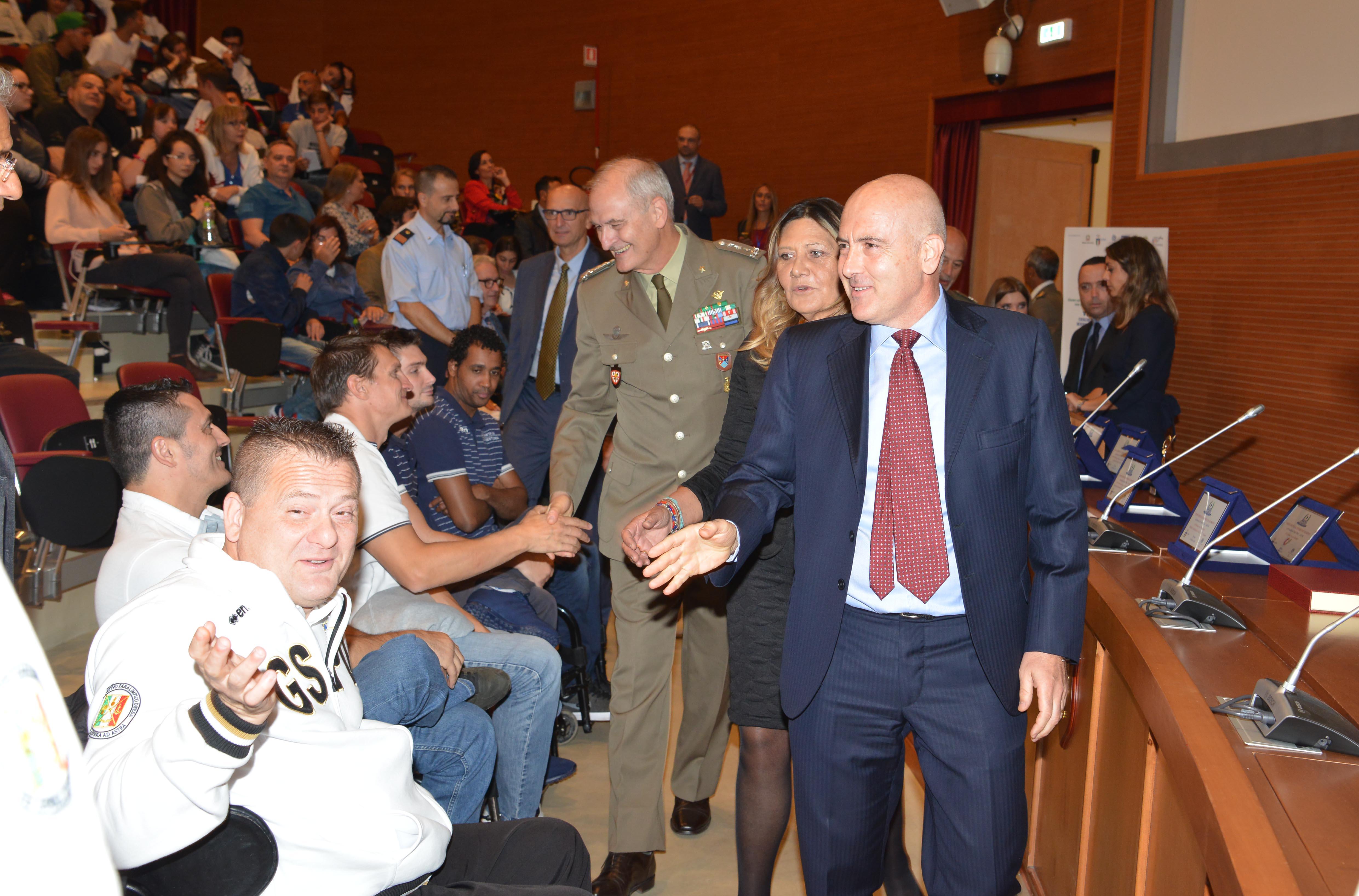 5 Ottobre Sottosegretario On.le Alfano,, Presidente del CASD Ge. Del Casale, Presidente VDS Monica Promontorio