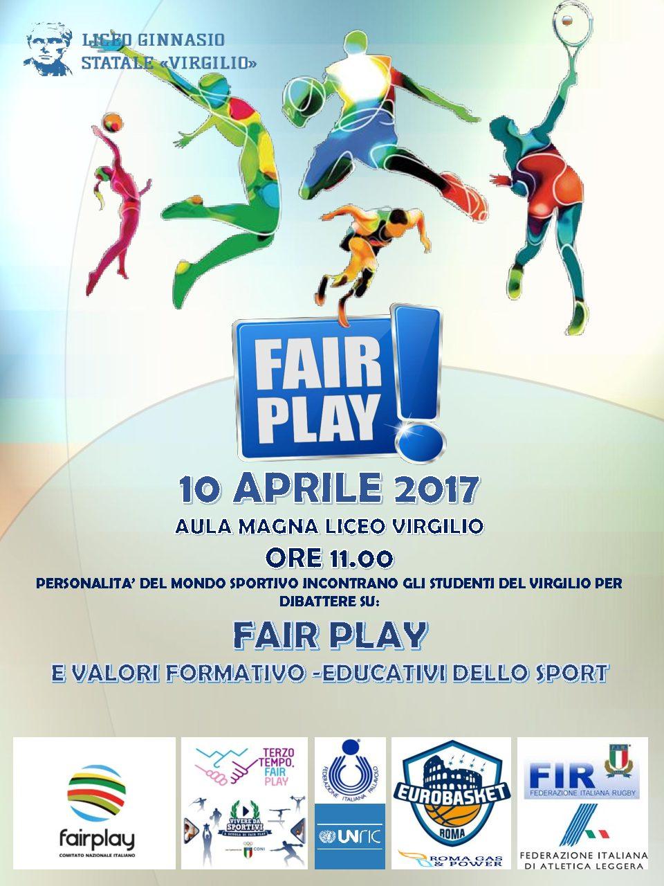 """Vivere da Sportivi al Liceo """"Virgilio"""" di Roma per il fairplay"""