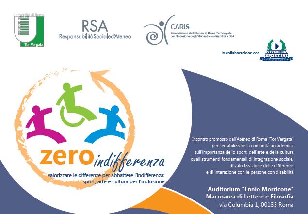 Vivere da Sportivi & #Zeroindifferenza. A scuola d'inclusione e integrazione all'Università di Tor Vergata