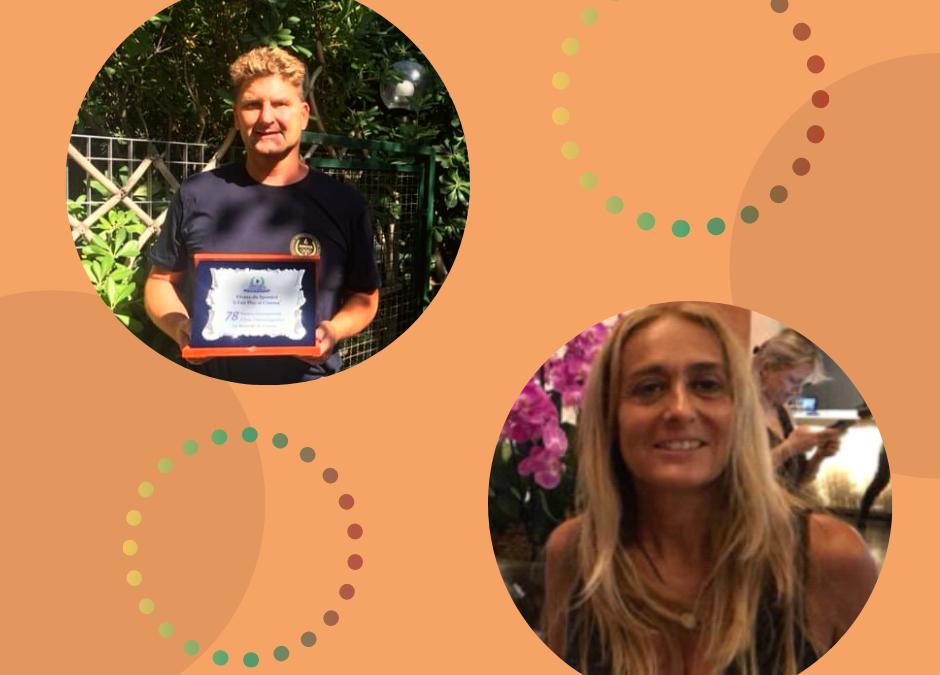 Guarda il video: live da Venezia Fabrizio Pescatori ex campione del mondo di nuoto open water e Katia Rossi ideatrice del premio